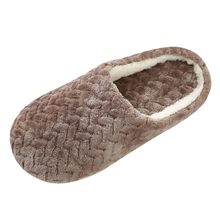 Women Indoor Slippers 2019 Autumn Winter Home Flat Shoes Woman Men Bedroom Slippers Non-Slip Sole Lovers Floor Warm Slides Foot(China)