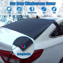 Parabrisas trasero magnético de coche, cubierta de nieve, Anti Lámina, polvo de hielo, sol, parabrisas, nieve, Protector UV, parabrisas trasero de vehículo