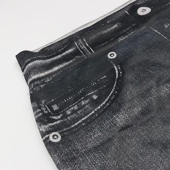 Fashion Slim Women Leggings Faux Denim Jeans Leggings Sexy Long Pocket Printing Summer Leggings Casual Pencil Pants 5