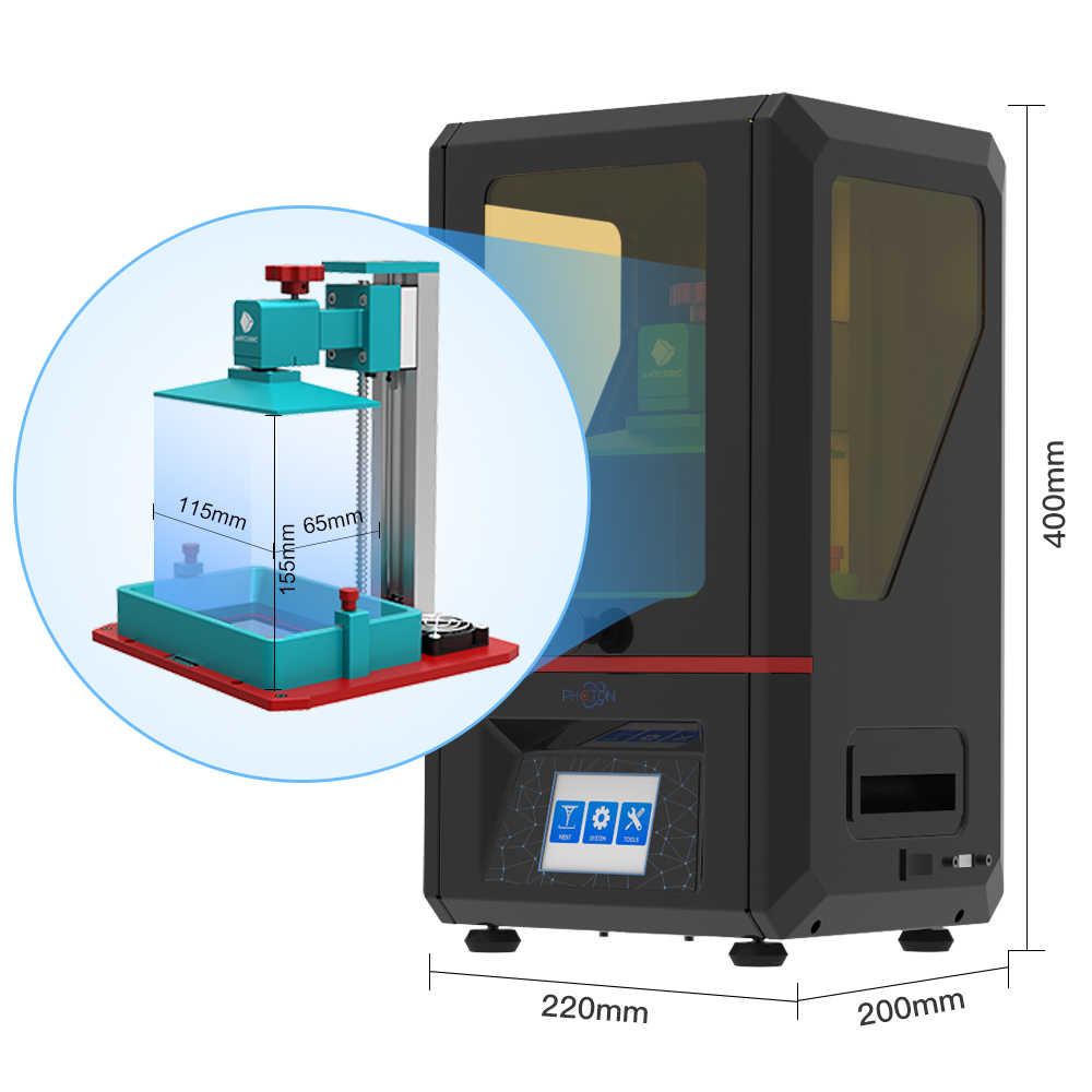 Impresora 3d ANYCUBIC Photon SLA con resina de 405nm UV LED, Color TFT, pantalla táctil, kit de impresora 3d impresora 3d drucker imprimante