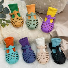 Children Sandals Summer Breathable Empty Kids Boys Girls Casual Roman Jelly Shoes Toddler Shoes Non-slip Boys Girl Beach Sandals