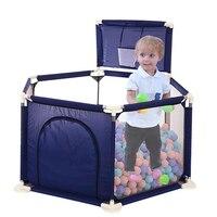 Безопасный детский забор детский манеж шариковый бассейн детский манеж Ткань Оксфорд Складной бассейн детский забор с шариками ямы забавн...