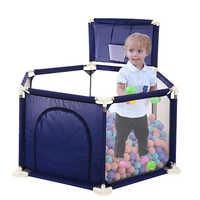 Di Sicurezza Del Bambino Recinzione per Bambini Box Piscina di Palline per Bambini Box Panno di Oxford Pieghevole Piscina per Bambini Recinzione con Le Palle Pozzi Divertimento giocattolo