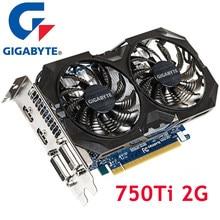 Видеокарты GIGABYTE GTX 750 Ti 2 Гб 128Bit GDDR5 видеокарты для nVIDIA Geforce GTX750Ti 2G Dvi Hdmi VGA карты 750Ti-2GB б/у