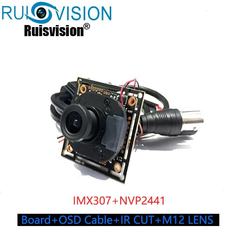 "AHD1080P Module Camera SONY 1/2.8"" IMX307+NVP2441H CMOS Board module+OSD Cable+IRC+M12 LENS  AHD/CVI/TVI/CVBS 4 in 1 AHD Camera"