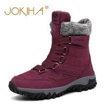 Botas de nieve de invierno 2019 para mujer botas de nieve de gamuza de vaca zapatos de nieve cálidos para mujer botas largas forradas de piel completa para mujer zapatos de fondo grueso para mujer