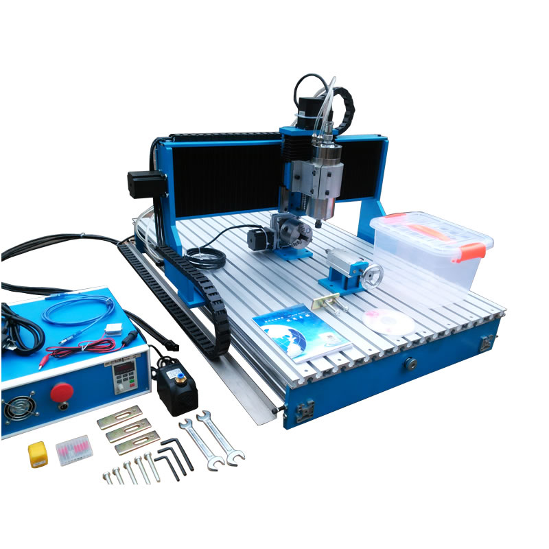 Linear Guide Rail CNC 6040 engraving milling machine 2.2kw 3axis 4axis cnc router for carving metal