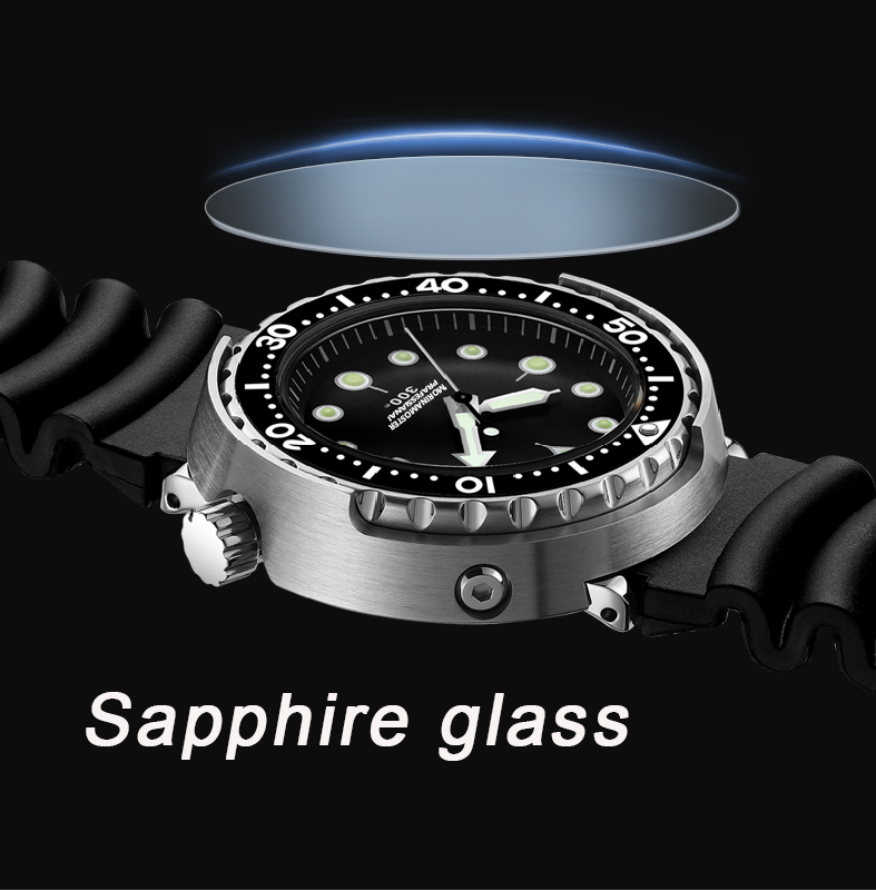 NH35 Mechanical Wristwatch 300m Dive Watch Mechanical Steel Stainless Case Sapphire Glass Automatic Watch Steel Diving - 3