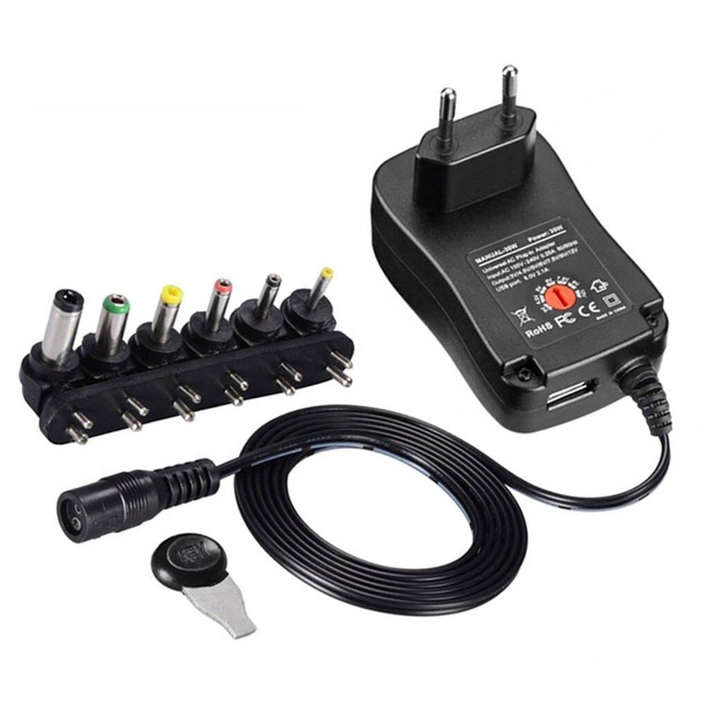 3 в 4,5 в 5 в 6 в 7,5 в 9 в 12 В 2A 2.5A AC DC адаптер Регулируемый адаптер питания Универсальное зарядное устройство для светодиодный светильник