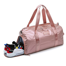 цена на Sports fitness bag female wet and dry shoes shoes shoulder bag training bag outdoor yoga tote bag travel luggage