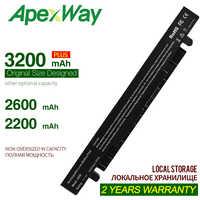 Apexway A41-X550 A41-X550A bateria do portátil para Asus A450 X550L A550 F550 F552 X450 X550 X550A X550CA X550C K550 P450 P550 R409