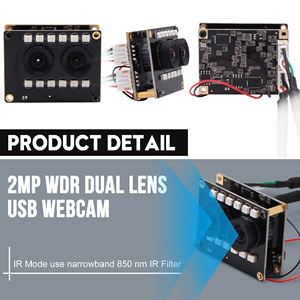 Image 3 - 1080P WDR No Distortion Dual Lens Camera Module Aptina AR0230 IR USB Camera Module for Face Recognition,Biopsy Detection