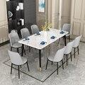 Столовые используют маленькие бытовые Современные Простые обеденные столы и стулья  чтобы сочетать прямоугольные легкие Роскошные рестор...