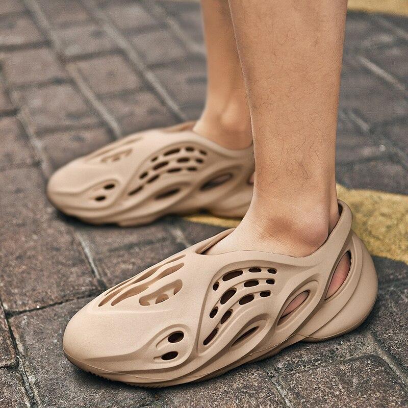 Sandales de natation en mousse pour hommes, tongs confortables, été chaussures décontractées