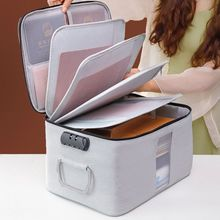Multi-layer Documents Organizer Portable Password Files Bag Briefcase Large Capacity Zipper Storage Pouch Travel