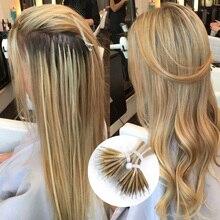 """Isheeny 14 """"18"""" 22 """"Remy Micro Perlen Haar Extensions In Nano Ring Links Menschliches Haar Gerade 9 farben Blonde Europäischen Haar"""