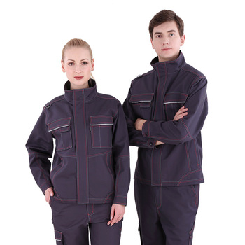 2019 Worker clothing set male/female  Factory uniform Long-sleeved coveralls welding suit wear tear resistant working uniforms