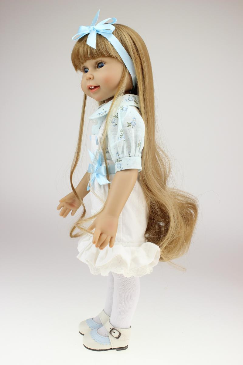 18-Inch America GIRL'S Replaceable Long Hair Princess Doll Educational Play House Doll Children's Day Gift Toy