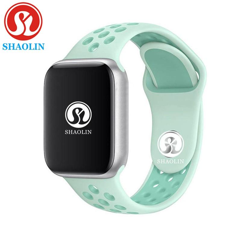 Sereis 4 Homens relógio Smartwatch Bluetooth relógio Inteligente para ios apple iphone 6S 7 8 X plus para samsung pk apple watch gel de sílica