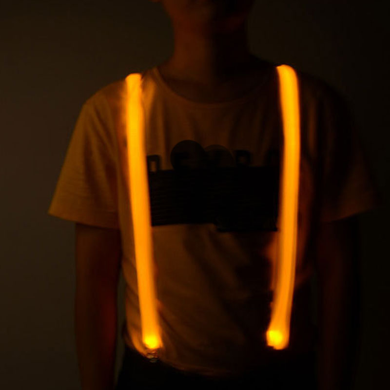 Super Bright Led Suspenders Unisex Flashing Adjustable Light Up Suspender For  Outdoor Night Cycling Running Riding
