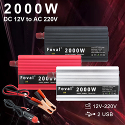 2000W Car Power Inverter DC 12V/24V to AC 220V Auto Portable Charger Converter Adapter Modified Sine Wave Universal Socket