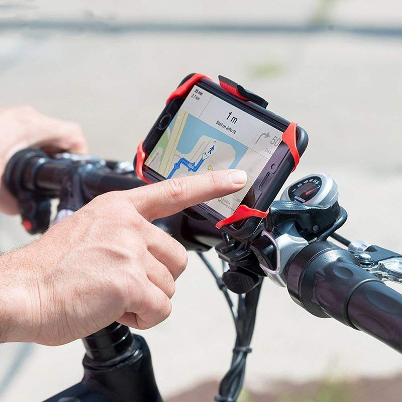 Bicycle Phone Holder For iPhone Samsung Universal Mobile Cell Phone Holder Bike Handlebar Clip Stand GPS