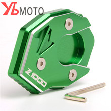 High Quality CNC Aluminum Side Stand Enlarge Extension For Kawasaki Z1000 2010 2011 2012 2013 2014 2015 2016 2017 Z1000SX