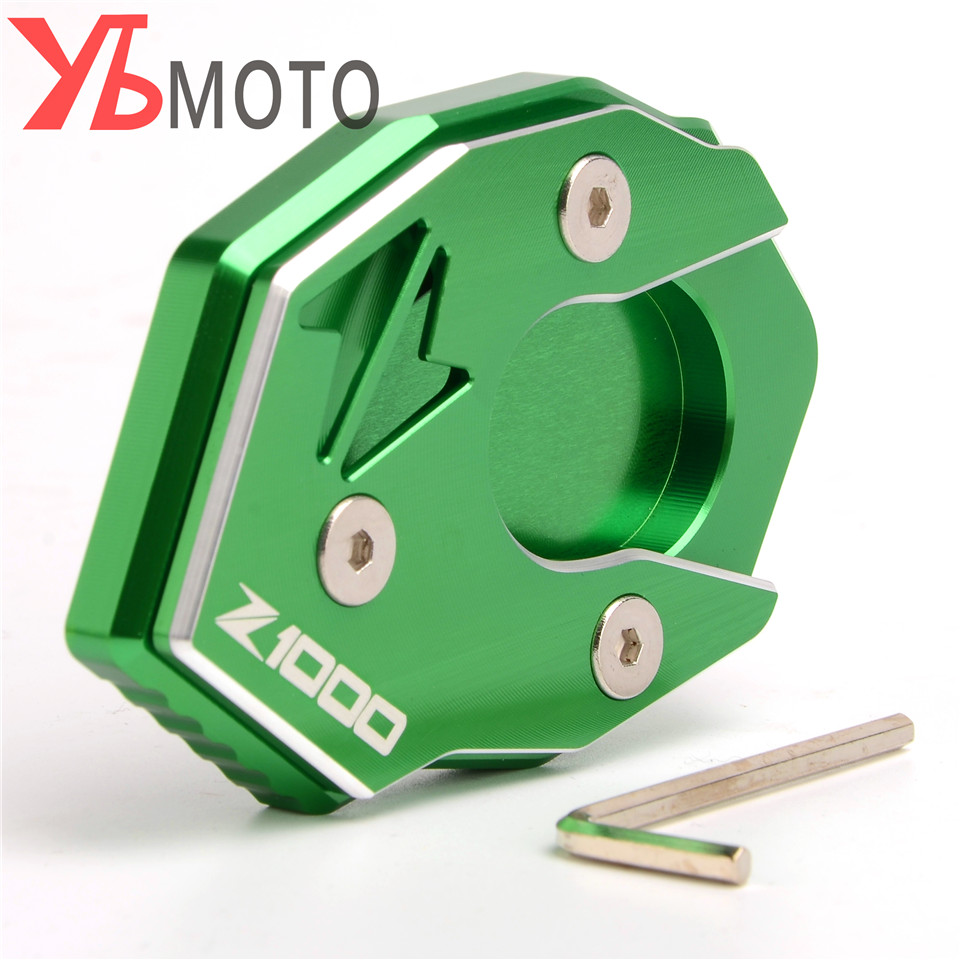 High Quality CNC Aluminum Side Stand Enlarge Extension For Kawasaki Z1000 2010 <font><b>2011</b></font> 2012 2013 2014 2015 2016 2017 <font><b>Z1000SX</b></font> image