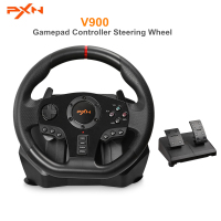 PXN V900 Gamepad Controller Gaming Steering Wheel PC Mobile Racing Video Vibration For Xbox One/360 PC PS3 / PS4 NINTENDO Switch