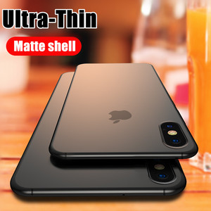 Luxury Ultra Thin 0.2mm Hard PC Phone Case For iphone 11 X XR XS Max Full Cover For iphone7 6 6s 8 Plus Matte Shockproof Case(China)