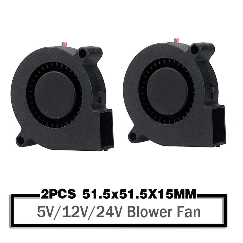 2 Buah 5015 50Mm DC 24V 12V 5V Bola/Lengan Brushless Cooling Turbin Blower 50Mm X 15Mm Blower Cooler Fan untuk 3D Printer