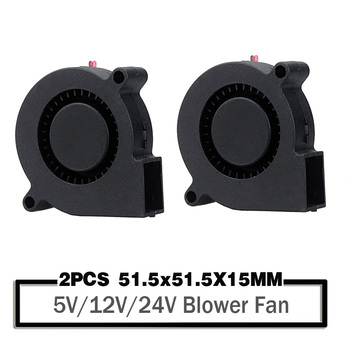 2 Pieces 5015 50mm DC 24V 12V 5V Ball/Sleeve Brushless Cooling Turbine Blower Fan 50mm x 15mm Blower Cooler Fan for 3D Printer 2pcs 5015 50mm dc 24v 12v 5v 2pin ball sleeve bearing brushless cooling turbine blower fan 50mm x 15mm blower cooler fan