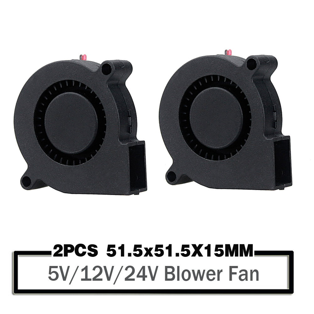 2PCS 5015 <font><b>50mm</b></font> DC 24V 12V <font><b>5V</b></font> Ball/Sleeve Brushless Cooling Turbine Blower <font><b>Fan</b></font> <font><b>50mm</b></font> x 15mm Blower Cooler <font><b>Fan</b></font> for 3D Printer image