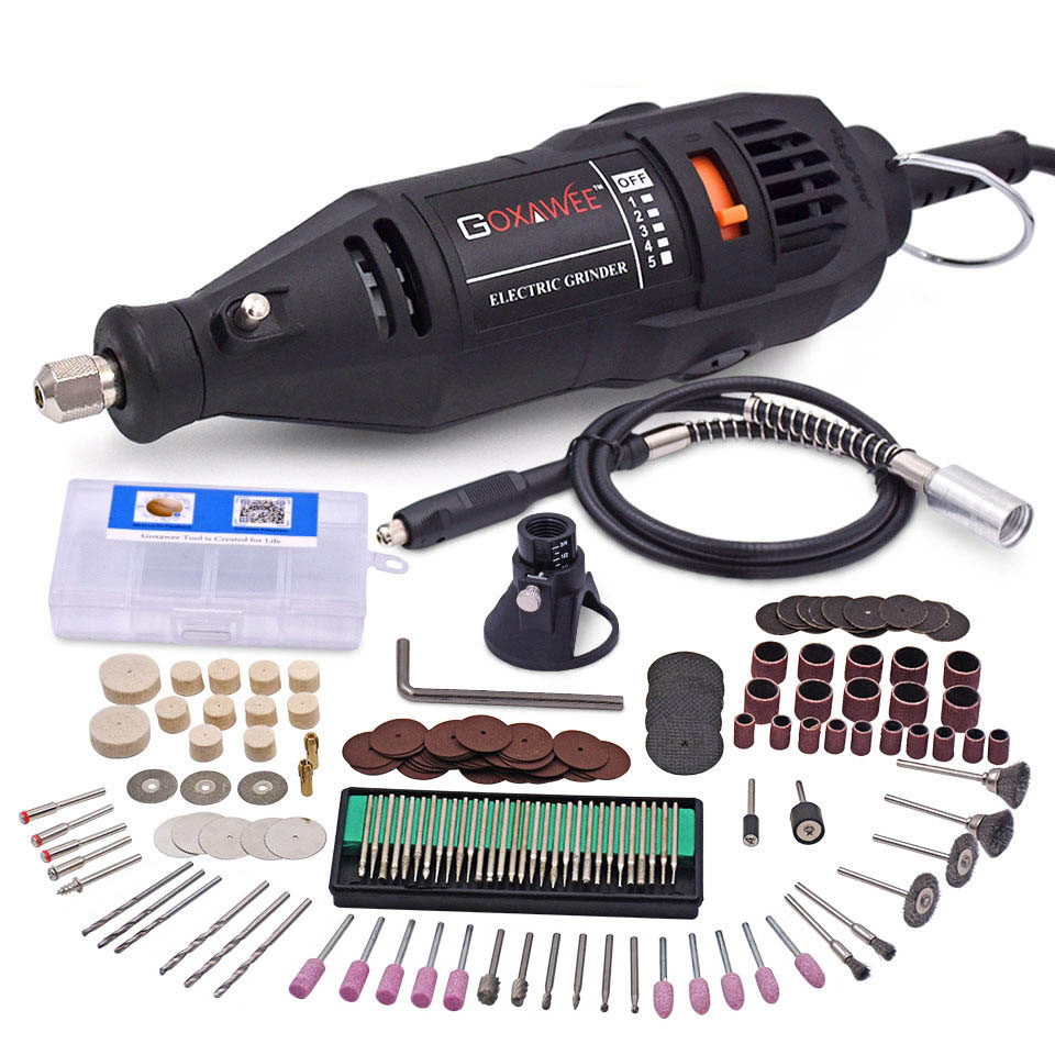 110V 220V Power Tools Electric Mini Drill Die Grinder Engraver Polisher With Rotary Tools Set Kit  For Dremel 3000 4000