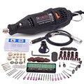 Электроинструменты 110 В 220 В, электрическая мини-дрель, шлифовальный станок, гравер, полировщик с комплектом вращающихся инструментов для ...