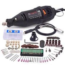Berloque elétrico para gravação, mini broca elétrica, 110v 220v, gravador, polidor, com kit de ferramentas rotativas, para dremel 3000 4000