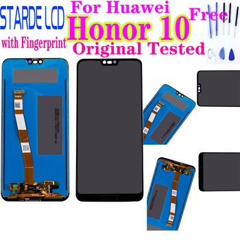 100% Original Tested For Huawei Honor 10 honor10 LCD Display +Touch Screen Digitizer Assembly Replacement +Fingerprint COL-L29 100% brand new tested original touch screen digitizer lcd display screen frame for lg g3 d855d850 replacement part free shipping