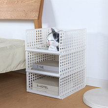 Receive Basket Sitting Room Bathroom Hollow Out Plastic Pull typeReceiving Basket Can Stack Drawer Basket for Books Toys storage(China)