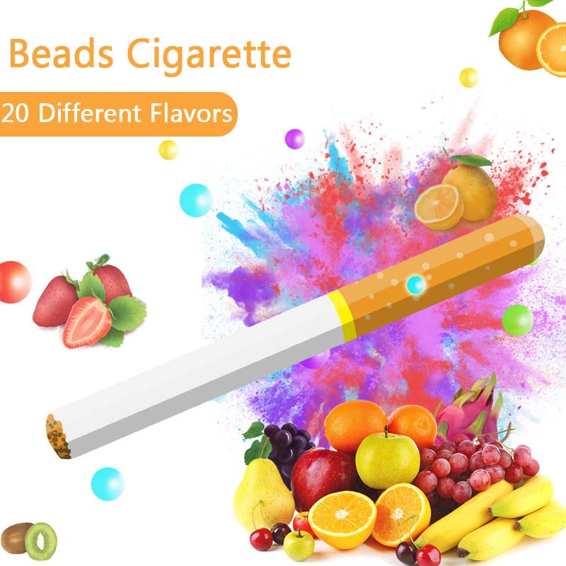 100 Pcs Cigarette Pops Fruit Flavour Mint Flavor Cigarette Holder Smoking Accessories Men Gift Cigarette Holder Filter Wholesale