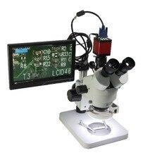 """Luckyzoom HD 10,"""" ЖК-экран микроскоп VGA HDMI микроскоп монитор для стерео бинокулярный тринокулярный микроскоп 2 размера держатель"""