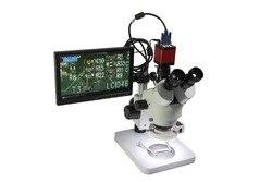 Luckyzoom HD 10,2 ЖК-экран микроскоп VGA HDMI микроскоп монитор для стерео бинокулярный тринокулярный микроскоп 2 размер держатель