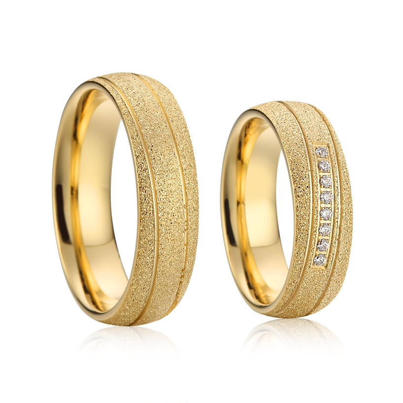 Marriage Alliances Custom His And Hers Wedding Ring Set For Couples 8mm Men And Women Gift Dubai Gold Color Jewelry Wholesale Wedding Bands Aliexpress