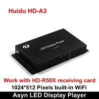 Huidu HD A3 with Built in WiFi Asynchronization Full Color LED Video Card, Competitive Wireless RGB Controller Card