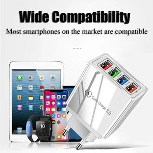 Image 3 - Usb充電器急速充電3.0急速充電器電話アダプタ36ワットポータブル壁携帯電話の充電器eu米国英国プラグタブレット