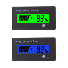 12v車の鉛蓄電池充電レベルインジケータバッテリーテスターリチウム電池容量計ledテスター電圧計デュアルディスプレイ