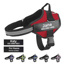 Dog-Harness Reflective Custom Patch No-Pull Adjustable Outdoor Walking for ID
