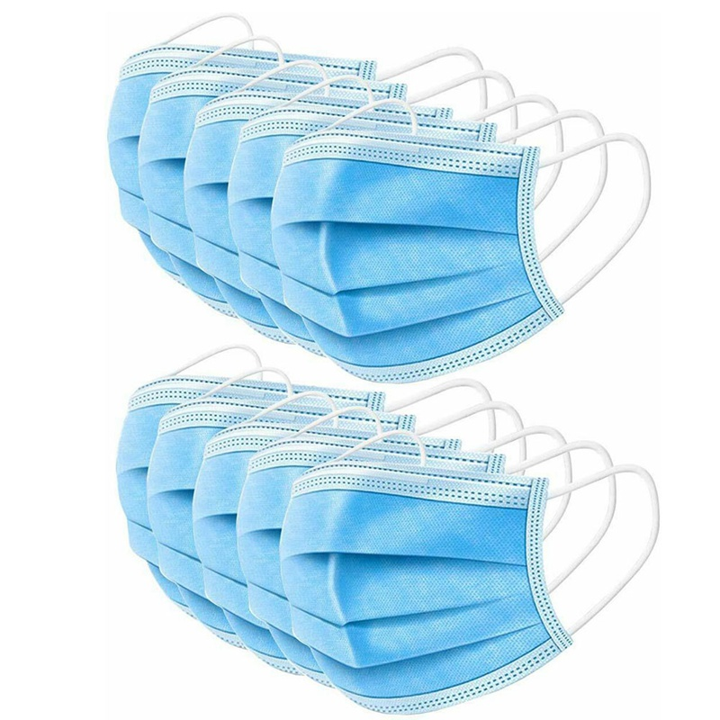 10 PC/Packet Disposable Non-woven Dustproof Mouth Masks Adult Dustproof Anti-Fog Facial Cover Breathable Face Mask Dropship New