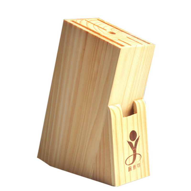 Knife Block Multifunctional Holes Bamboo Knife Rack Creative Storage Rack Tool Wood Kitchen Knife Holder Knife Stand Block Tool
