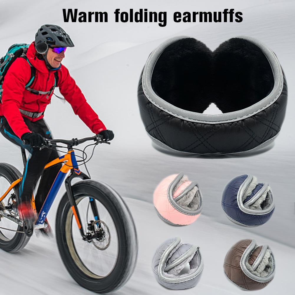 Winter Warm Outdoor Snowboarding Plush Earmuffs Soft Folding Plush Protective Earmuffs For Men Women Riding Camping 30E