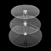 3/4 Tier Transparent Acrylic Cake Display Stand For Party Round Removable Cupcake Holder Wedding Birthday Party Decor hot assemble and disassemble cake holder round acrylic 3 4 tier cupcake cake stand decorating birthday tools party stands